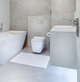 carrelage gris clair salle de bain
